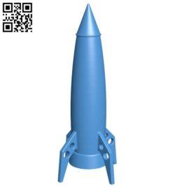 Sci-Fi Rocket B005276 file stl free download 3D Model for CNC and 3d printer