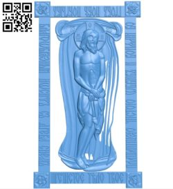Shroud of Christ icon A004012 wood carving file stl free 3d model download for CNC