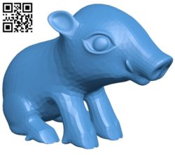 Sitting Boar B005289 file stl free download 3D Model for CNC and 3d printer