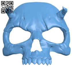 Skull Mask B005714 download free stl files 3d model for 3d printer and CNC carving