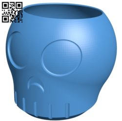 Skully Bowl Cup B005296 file stl free download 3D Model for CNC and 3d printer