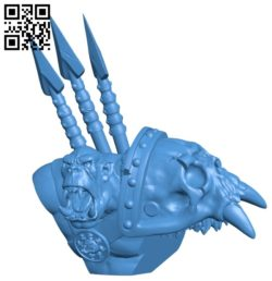 Spear orc B005364 file stl free download 3D Model for CNC and 3d printer