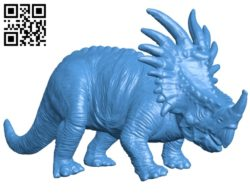 Styracosaurus Dinosaur B005315 file stl free download 3D Model for CNC and 3d printer