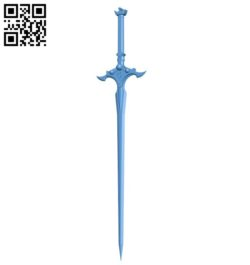 Sword excalibur B005693 download free stl files 3d model for 3d printer and CNC carving