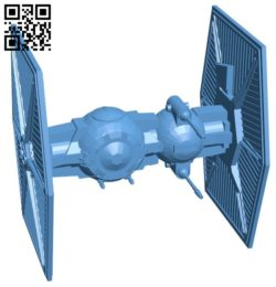 TIE brute ship B005701 download free stl files 3d model for 3d printer and CNC carving