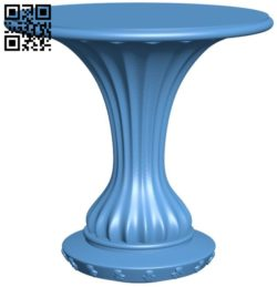Table legs and chairs A004160 download free stl files 3d model for CNC wood carving
