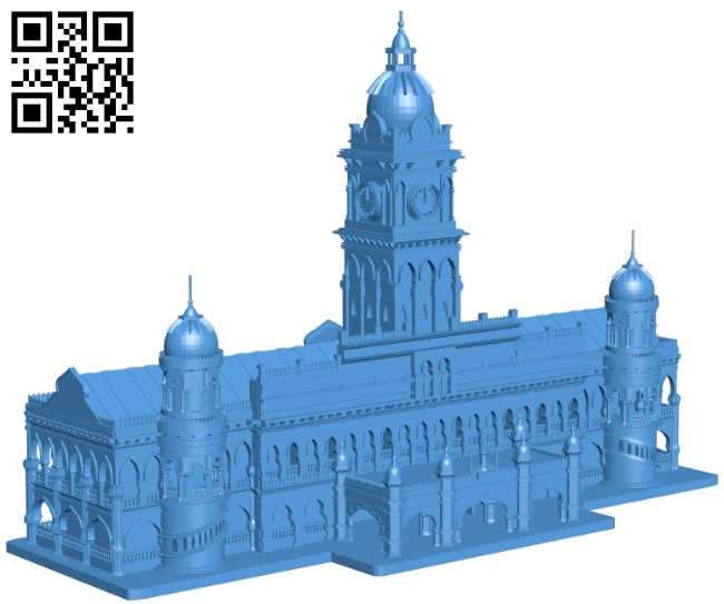 The Sultan Abdul Samad Building - House B005459 file stl free download 3D Model for CNC and 3d printer