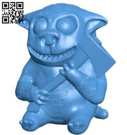 The dog holds the ax B005592 download free stl files 3d model for 3d printer and CNC carving