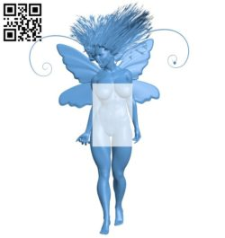 The girl with wings B005733 download free stl files 3d model for 3d printer and CNC carving