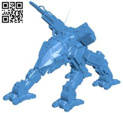 Thunder fox B005583 download free stl files 3d model for 3d printer and CNC carving