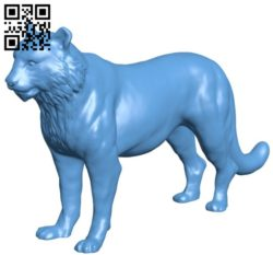 Tiger B005699 download free stl files 3d model for 3d printer and CNC carving