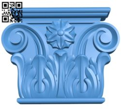 Top of the column A004071 download free stl files 3d model for CNC wood carving