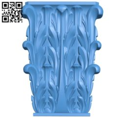 Top of the column A004072 download free stl files 3d model for CNC wood carving