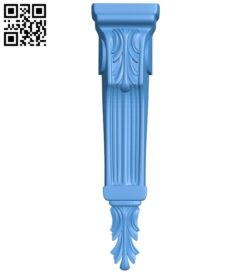 Top of the column A004075 download free stl files 3d model for CNC wood carving