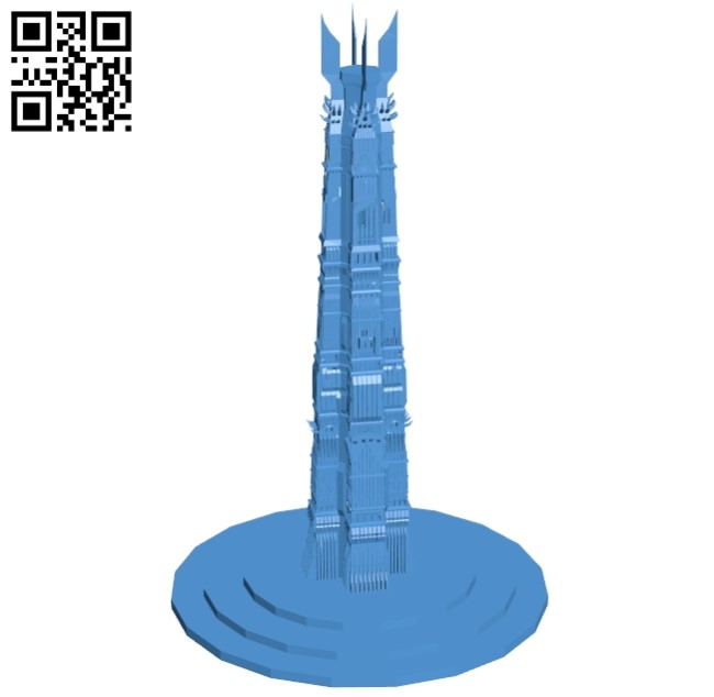 Tower - house B005591 download free stl files 3d model for 3d printer and CNC carving