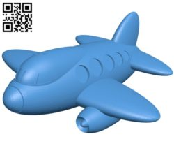 Toy plane B005524 free download stl file 3D Model for CNC and 3d printer
