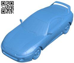 Toyota Supra Car B005312 file stl free download 3D Model for CNC and 3d printer