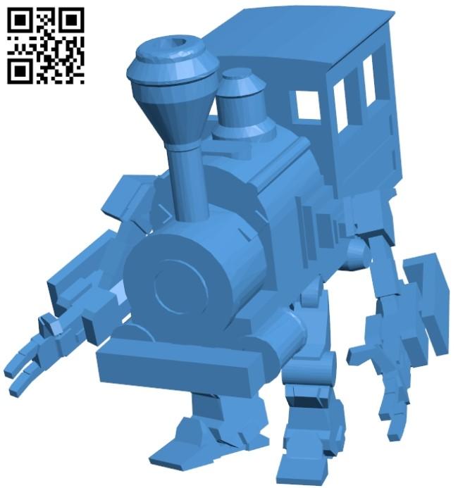 Train Golem B005388 file stl free download 3D Model for CNC and 3d printer