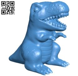 Trex dinosaurs B005682 download free stl files 3d model for 3d printer and CNC carving