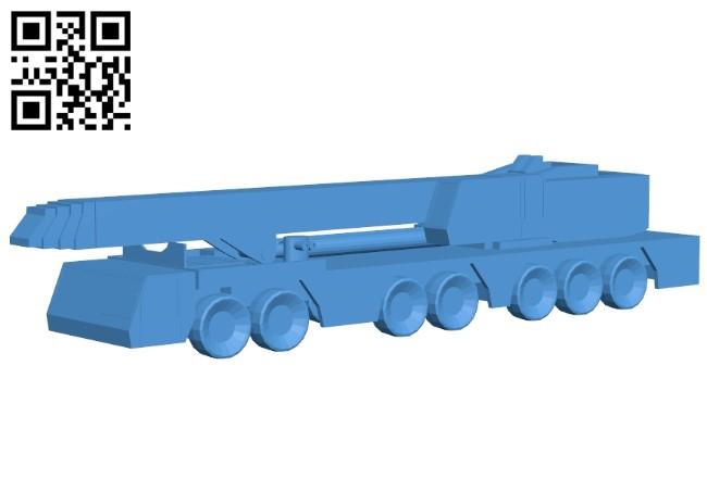 Truck crane B005316 file stl free download 3D Model for CNC and 3d printer