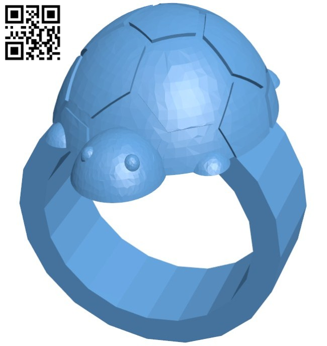 Turtle ring B005763 download free stl files 3d model for 3d printer and CNC carving