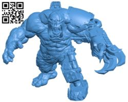 Ultra hulky mega orc B005558 download free stl files 3d model for 3d printer and CNC carving