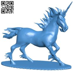 Unicorn B005656 download free stl files 3d model for 3d printer and CNC carving