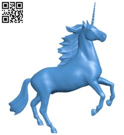 Unicorn statuette B005559 download free stl files 3d model for 3d printer and CNC carving