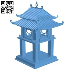 Vietnamese cultural symbol – house B005789 download free stl files 3d model for 3d printer and CNC carving