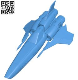 Viper Mark II Ship B005395 file stl free download 3D Model for CNC and 3d printer
