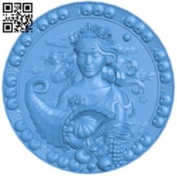 Virgo – Zodiac A004023 wood carving file stl free 3d model download for CNC