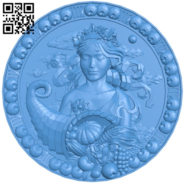 Virgo - Zodiac A004023 wood carving file stl free 3d model download for CNC
