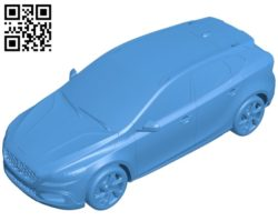 Volvo car B005538 download free stl files 3d model for 3d printer and CNC carving