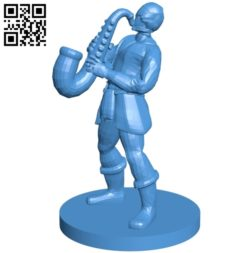Warforged Bard man B005325 file stl free download 3D Model for CNC and 3d printer