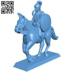 Warrior riding horse B005721 download free stl files 3d model for 3d printer and CNC carving