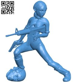 Warrior woman B005420 file stl free download 3D Model for CNC and 3d printer