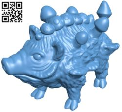 Wild boar and mushrooms B005705 download free stl files 3d model for 3d printer and CNC carving