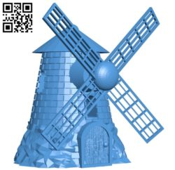 Windmill – House B005409 file stl free download 3D Model for CNC and 3d printer