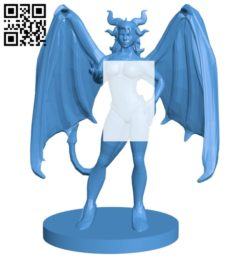 Women Devil Succubus B005403 file stl free download 3D Model for CNC and 3d printer