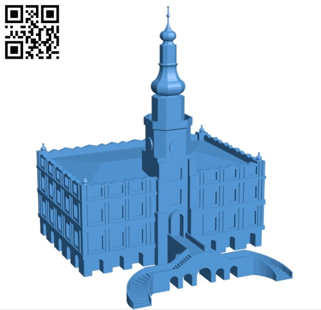 Zamosc - House B005460 file stl free download 3D Model for CNC and 3d printer