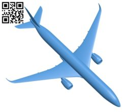Aircraft – airbus a350 900 B005601 download free stl files 3d model for 3d printer and CNC carving