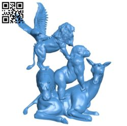 African animal – pyramid B005873 download free stl files 3d model for 3d printer and CNC carving