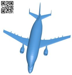 Airplane B006185 download free stl files 3d model for 3d printer and CNC carving