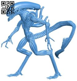Alien monster B005877 download free stl files 3d model for 3d printer and CNC carving