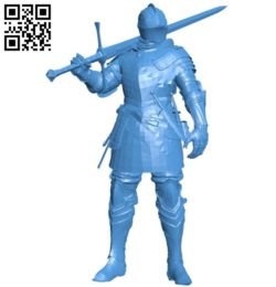 Ancient knight B005881 download free stl files 3d model for 3d printer and CNC carving
