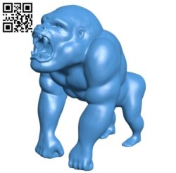 Angry gorilla B006191 download free stl files 3d model for 3d printer and CNC carving