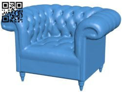 Armchair – chair B005865 download free stl files 3d model for 3d printer and CNC carving