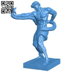 Athlete wrestling a python at the tate britain london B005858 download free stl files 3d model for 3d printer and CNC carving