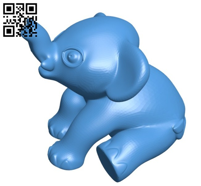 Baby Mastodon B006220 download free stl files 3d model for 3d printer and CNC carving