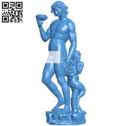 Bacchus by SMK – Statens Museum for Kunst B005869 download free stl files 3d model for 3d printer and CNC carving